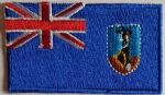 Montserrat Embroidered Flag Patch, style 04